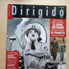 Cine: DIRIGIDO POR...Nº 317 NOVIEMBRE 2002 OTTO PREMINGER - EL GRAN DICTADOR CHARLES CHAPLIN. Lote 92448725