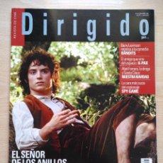 Cine: DIRIGIDO POR...Nº 307 DICIEMBRE 2001 EL SEÑOR DE LOS ANILLOS - MANOEL DE OLIVEIRA Y FRANK BORZAGE(2). Lote 92472720