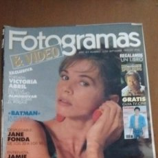 Cine: REVISTA FOTOGRAMAS & VIDEO VICTORIA ABRIL NUM: 1755 SEPTIEMBRE 1989. Lote 92704060