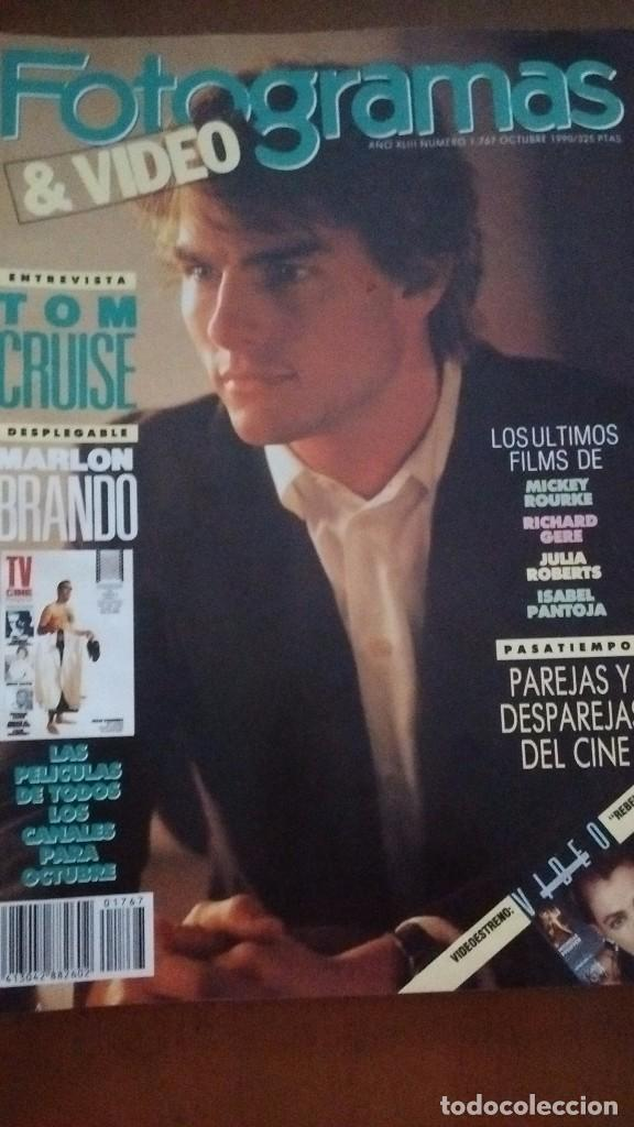 REVISTA FOTOGRAMAS & VIDEO TOM CRUISE NUM: 1767 OCTUBRE 1990 (Cine - Revistas - Fotogramas)