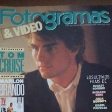Cine: REVISTA FOTOGRAMAS & VIDEO TOM CRUISE NUM: 1767 OCTUBRE 1990. Lote 92704490