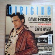 Cine: DIRIGIDO POR...Nº 284 NOVIEMBRE 1999 DAVID FINCHER EL CLUB DE LA LUCHA VALLADOLID 99. Lote 92826610