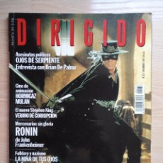 Cine: DIRIGIDO POR...Nº 273 NOVIEMBRE 1998 LA NIÑA DE TUS OJOS - LA MASCARA DEL ZORRO. Lote 92830155