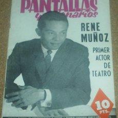 Cine: PANTALLAS Y ESCENARIOS Nº 23, ABRIL 1963 -ORIGINAL EN BUEN ESTADO - LEER ENVIO. Lote 93006585