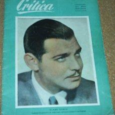 Cine: CRITICA Nº 10, 1950, CON SUS 24 CUPONES SIN CORTAR, ÚNICA -ORIGINAL EN BUEN ESTADO LEER TODO. Lote 93008805