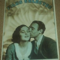 Cine: FILMS SELECTOS Nº 21 - 1931, MAUREEN O SULLIVAN -ORIGINAL EN BUEN ESTADO. Lote 93014035