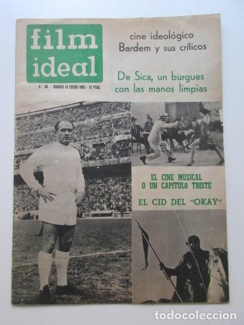 FILM IDEAL, AÑO 1962, CINE IDEOLÓGICO, BARDEM Y SUS CRÍTICOS, DE SICA, EL CINE MUSICAL, ETC (Cine - Revistas - Film Ideal)
