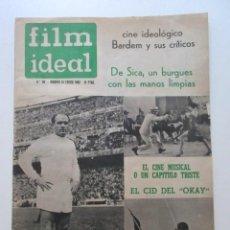 Cine: FILM IDEAL, AÑO 1962, CINE IDEOLÓGICO, BARDEM Y SUS CRÍTICOS, DE SICA, EL CINE MUSICAL, ETC. Lote 93303365