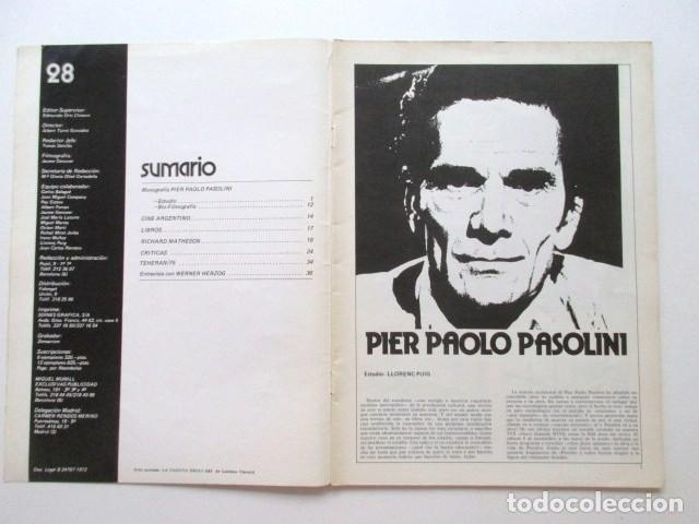 Cine: PIER PAOLO PASOLINI, DIRIGIDO POR... REVISTA DEL AÑO 1975, MUY BUEN ESTADO, CINE ARGENTINO, ETC - Foto 3 - 93303865
