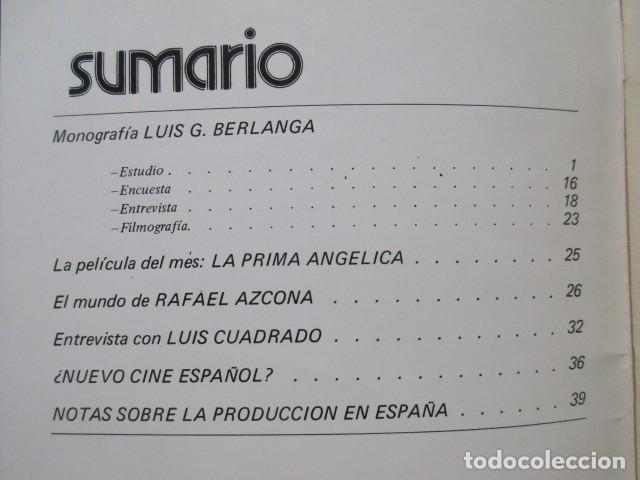 Cine: LUIS GARCÍA BERLANGA, DIRIGIDO POR... REVISTA DEL AÑO 1974, MUY BUEN ESTADO ¿NUEVO CINE ESPAÑOL? ETC - Foto 4 - 93304225