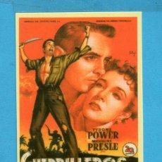 Calendario de Cine Titula Guerrilleros en Filipinas Por Tyrone Power Y Micheline Presle Sin Circular