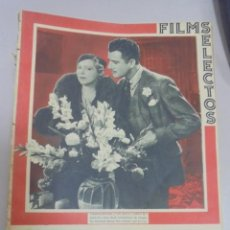 Cine: REVISTA CINE. FILMS SELECTOS. 4 NOVIEMBRE 1933. AÑO IV. Nº 160.. Lote 94631119