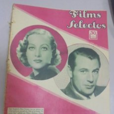 Cine: REVISTA CINE. FILMS SELECTOS. 25 NOVIEMBRE 1933. AÑO IV. Nº 163.. Lote 94631383
