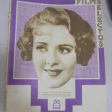 Cine: REVISTA CINE. FILMS SELECTOS. 9 DICIEMBRE 1933. AÑO IV. Nº 165.. Lote 94631731