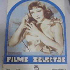 Cine: REVISTA CINE. FILMS SELECTOS. 20 ENERO 1934. AÑO V. Nº 171.. Lote 94632147