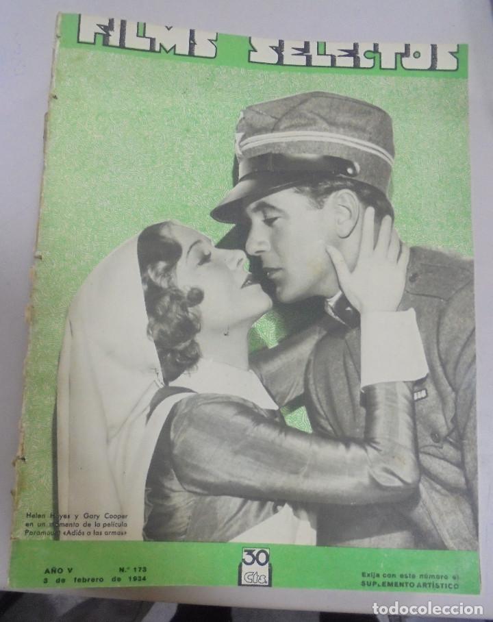 REVISTA CINE. FILMS SELECTOS. 3 FEBRERO 1934. AÑO V. Nº 173. (Cine - Revistas - Films selectos)