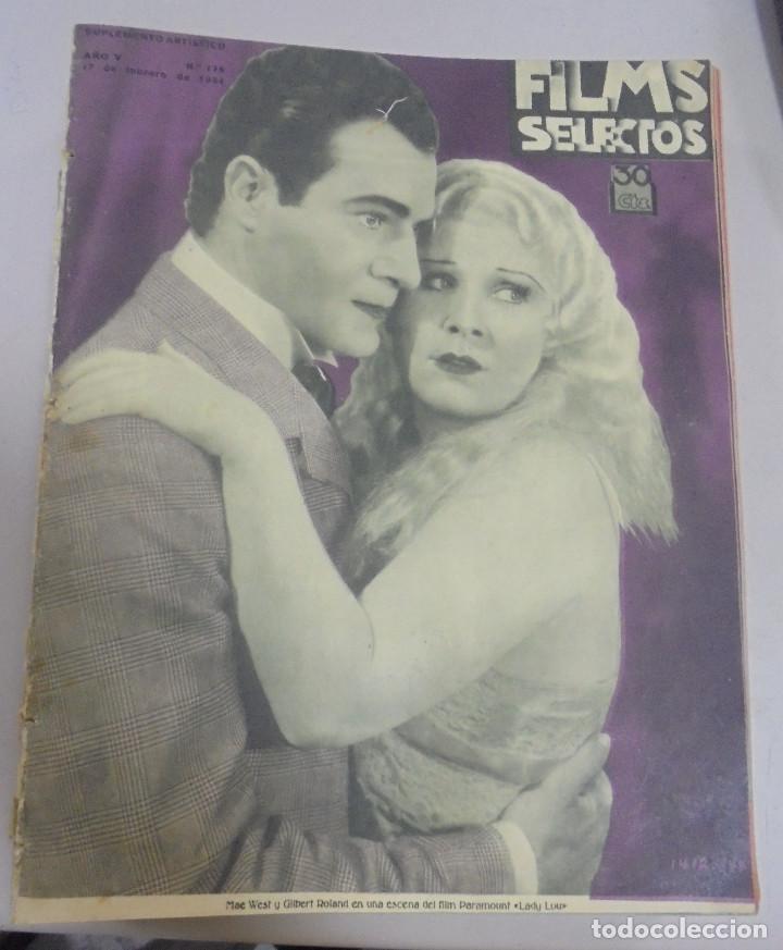 REVISTA CINE. FILMS SELECTOS. 17 FEBRERO 1934. AÑO V. Nº 175. (Cine - Revistas - Films selectos)