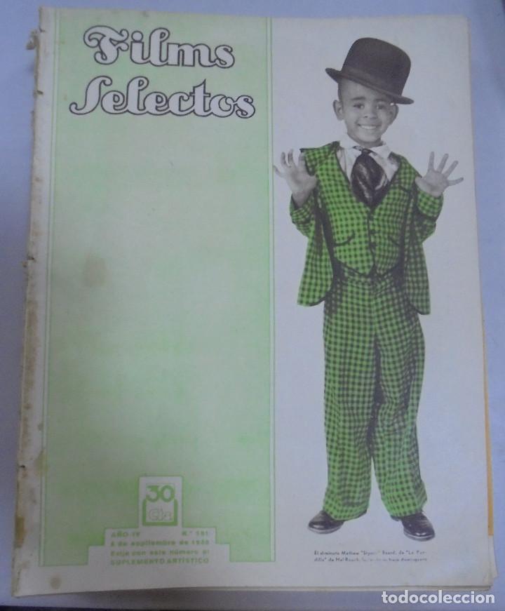 REVISTA CINE. FILMS SELECTOS. 2 SEPTIEMBRE 1933. AÑO IV. Nº 151. (Cine - Revistas - Films selectos)