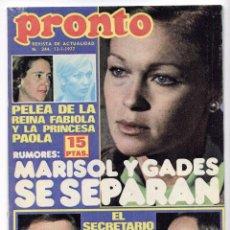 Cine: MARISOL, ROCÍO JURADO Y BRUNO LOMAS . REVISTA PRONTO 1977.. Lote 94730499