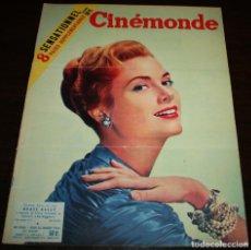 Cine: REVISTA CINÉMONDE - 26 ENERO 1956 - Nº 1120 - EN PORTADA: GRACE KELLY - EN FRANCÉS. Lote 94835947