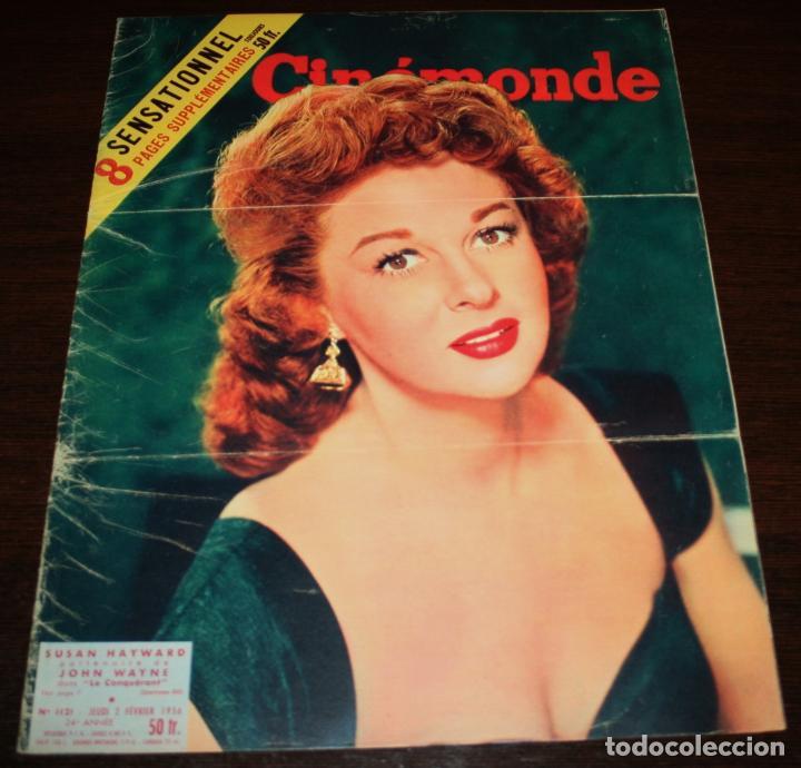 REVISTA CINÉMONDE - 2 FEBRERO 1956 - Nº 1121 - EN PORTADA: SUSAN HAYWARD - EN FRANCÉS (Cine - Revistas - Otros)