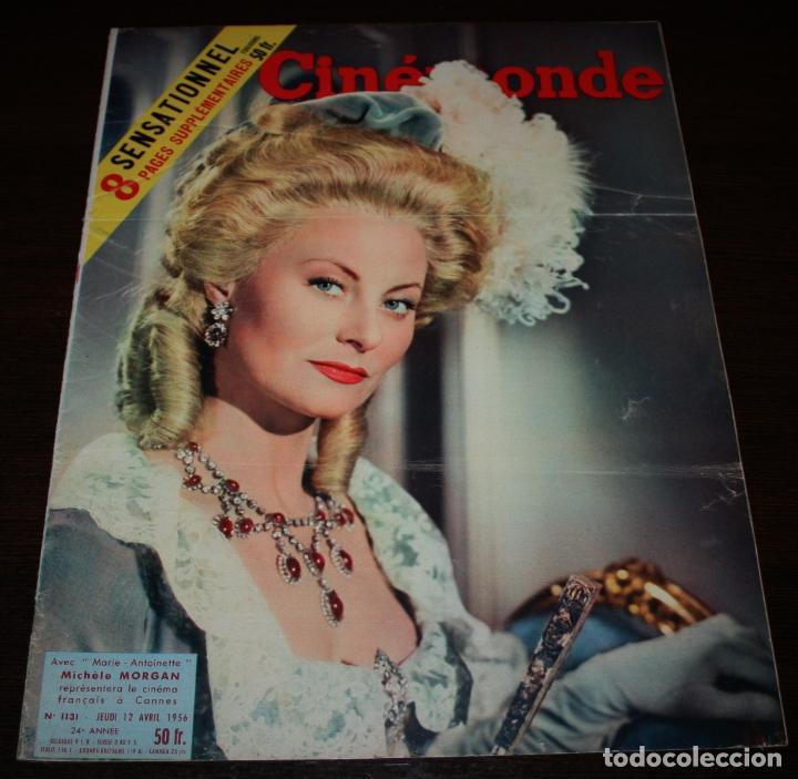 REVISTA CINÉMONDE - 12 ABRIL 1956 - Nº 1131 - EN PORTADA: MICHELE MORGAN - EN FRANCÉS (Cine - Revistas - Otros)