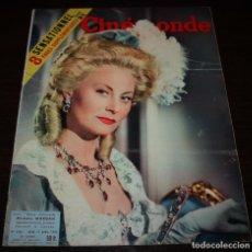 Cine: REVISTA CINÉMONDE - 12 ABRIL 1956 - Nº 1131 - EN PORTADA: MICHELE MORGAN - EN FRANCÉS. Lote 94861087