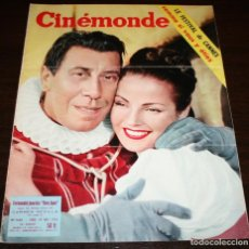 Cine: REVISTA CINÉMONDE - 10 MAYO 1956 - Nº 1135 - EN PORTADA: CARMEN SEVILLA / FERNANDEL - EN FRANCÉS. Lote 94890671
