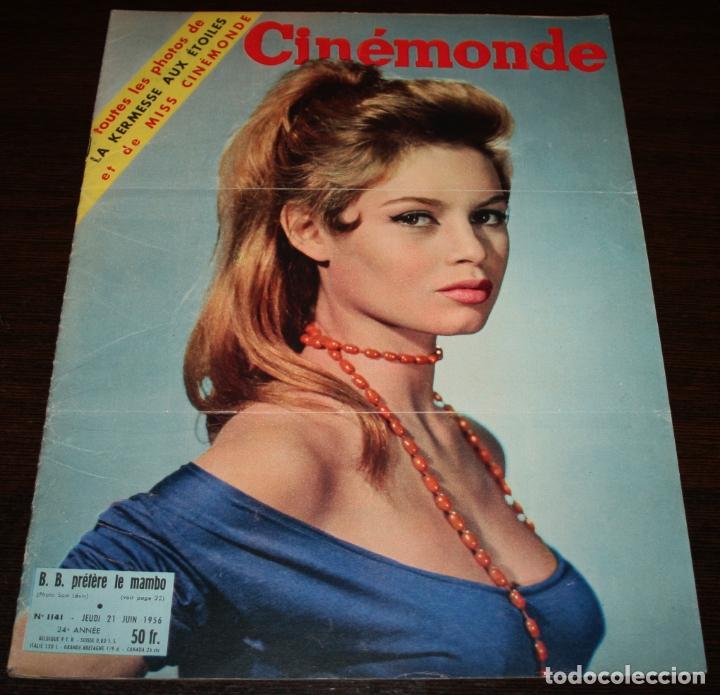 REVISTA CINÉMONDE - 21 JUNIO 1956 - Nº 1141 - EN PORTADA: BRIGITTE BARDOT - EN FRANCÉS (Cine - Revistas - Otros)