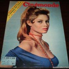 Cine: REVISTA CINÉMONDE - 21 JUNIO 1956 - Nº 1141 - EN PORTADA: BRIGITTE BARDOT - EN FRANCÉS. Lote 94893271