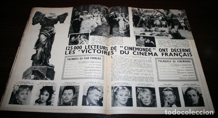 Cine: REVISTA CINÉMONDE - 21 JUNIO 1956 - Nº 1141 - EN PORTADA: BRIGITTE BARDOT - EN FRANCÉS - Foto 3 - 94893271
