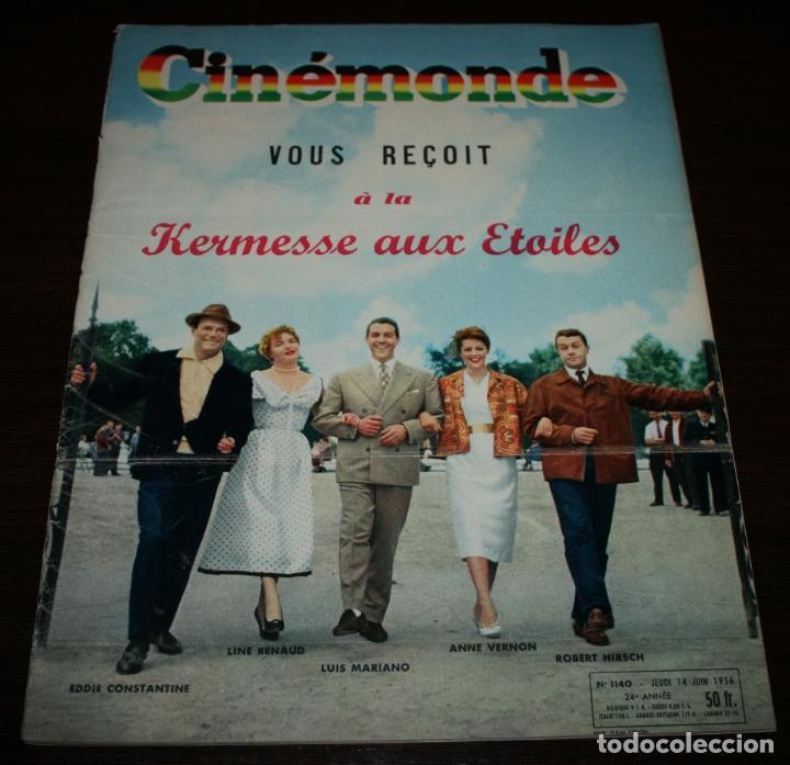 REVISTA CINÉMONDE - 14 JUNIO 1956 - Nº 1140 - EN PORTADA: LUIS MARIANO... - EN FRANCÉS (Cine - Revistas - Otros)