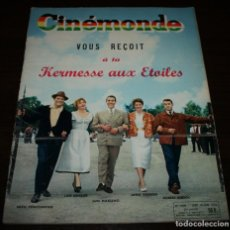 Cine: REVISTA CINÉMONDE - 14 JUNIO 1956 - Nº 1140 - EN PORTADA: LUIS MARIANO... - EN FRANCÉS. Lote 94894083
