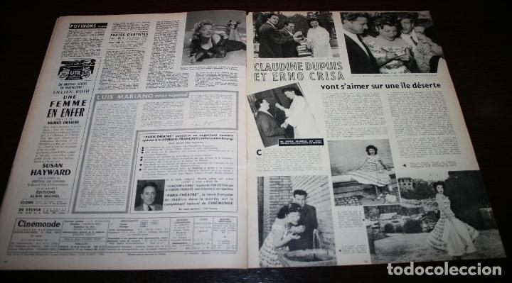Cine: REVISTA CINÉMONDE - 14 JUNIO 1956 - Nº 1140 - EN PORTADA: LUIS MARIANO... - EN FRANCÉS - Foto 6 - 94894083