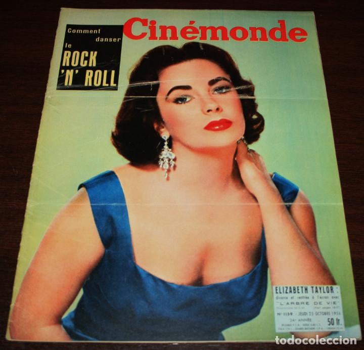 REVISTA CINÉMONDE - 25 OCTUBRE 1956 - Nº 1159 - EN PORTADA: ELIZABETH TAYLOR - EN FRANCÉS (Cine - Revistas - Otros)