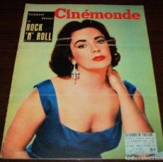 Cine: REVISTA CINÉMONDE - 25 OCTUBRE 1956 - Nº 1159 - EN PORTADA: ELIZABETH TAYLOR - EN FRANCÉS. Lote 94910971