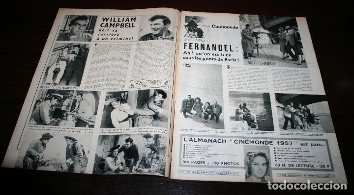 Cine: REVISTA CINÉMONDE - 25 OCTUBRE 1956 - Nº 1159 - EN PORTADA: ELIZABETH TAYLOR - EN FRANCÉS - Foto 2 - 94910971