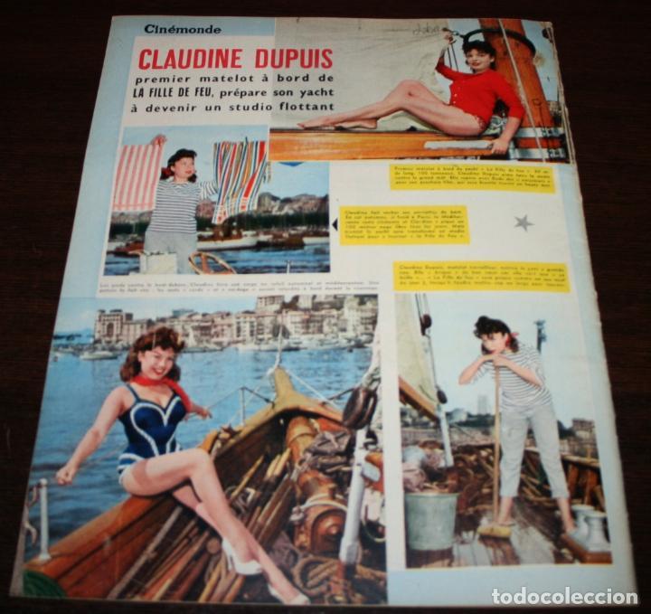 Cine: REVISTA CINÉMONDE - 25 OCTUBRE 1956 - Nº 1159 - EN PORTADA: ELIZABETH TAYLOR - EN FRANCÉS - Foto 4 - 94910971