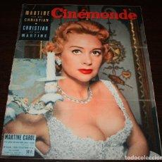 Cine: REVISTA CINÉMONDE - 18 OCTUBRE 1956 - Nº 1158 - EN PORTADA: MARTINE CAROL - EN FRANCÉS. Lote 94911339