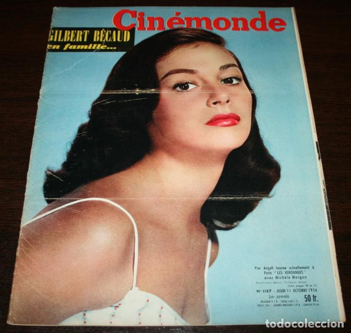 REVISTA CINÉMONDE - 11 OCTUBRE 1956 - Nº 1157 - EN PORTADA: PIER ANGELI - EN FRANCÉS (Cine - Revistas - Otros)
