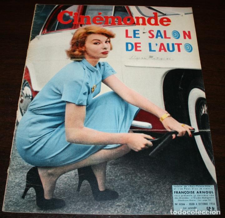REVISTA CINÉMONDE - 4 OCTUBRE 1956 - Nº 1156 - EN PORTADA: FRANÇOISE ARNOUL - EN FRANCÉS (Cine - Revistas - Otros)