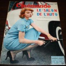 Cine: REVISTA CINÉMONDE - 4 OCTUBRE 1956 - Nº 1156 - EN PORTADA: FRANÇOISE ARNOUL - EN FRANCÉS. Lote 94911787
