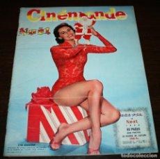 Cine: REVISTA CINÉMONDE - NÚMERO ESPECIAL NAVIDAD 1956 - EN PORTADA: CYD CHARISSE - EN FRANCÉS. Lote 94911959