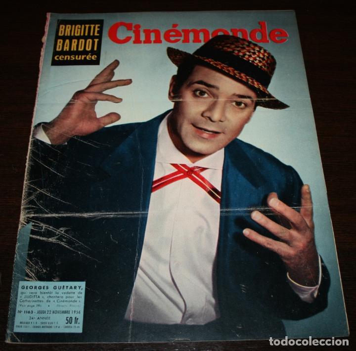 REVISTA CINÉMONDE - 22 NOVIEMBRE 1956 - Nº 1163 - EN PORTADA: GEORGES GUETARY - EN FRANCÉS (Cine - Revistas - Otros)