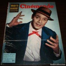 Cine: REVISTA CINÉMONDE - 22 NOVIEMBRE 1956 - Nº 1163 - EN PORTADA: GEORGES GUETARY - EN FRANCÉS. Lote 94912079