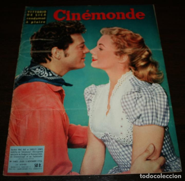 REVISTA CINÉMONDE - 15 NOVIEMBRE 1956 - Nº 1162 - EN PORTADA: GORDON MCRAE/SHIRLEY JONES- EN FRANCÉS (Cine - Revistas - Otros)
