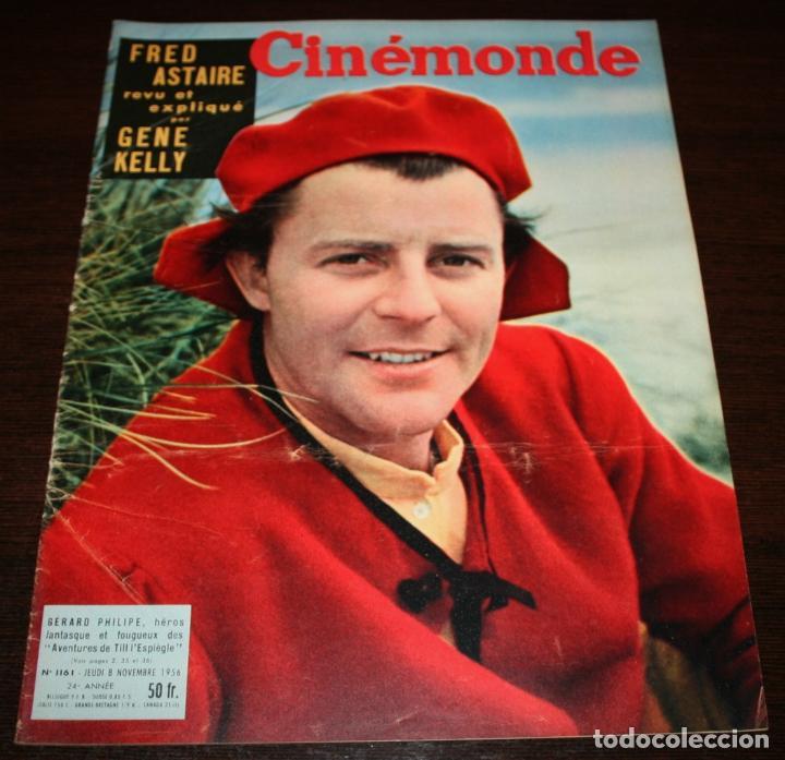 REVISTA CINÉMONDE - 8 NOVIEMBRE 1956 - Nº 1161 - EN PORTADA: GERARD PHILIPE - EN FRANCÉS (Cine - Revistas - Otros)