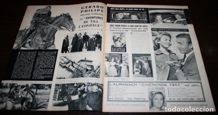 Cine: REVISTA CINÉMONDE - 8 NOVIEMBRE 1956 - Nº 1161 - EN PORTADA: GERARD PHILIPE - EN FRANCÉS - Foto 2 - 94912495