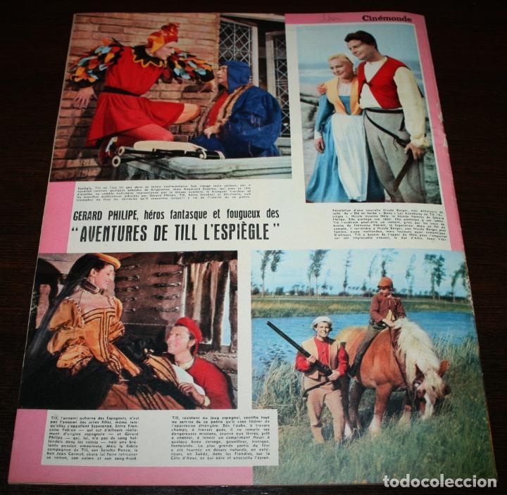 Cine: REVISTA CINÉMONDE - 8 NOVIEMBRE 1956 - Nº 1161 - EN PORTADA: GERARD PHILIPE - EN FRANCÉS - Foto 6 - 94912495