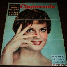 Cine: REVISTA CINÉMONDE - 1 NOVIEMBRE 1956 - Nº 1160 - EN PORTADA: ROSSANA PODESTA - EN FRANCÉS. Lote 94912771